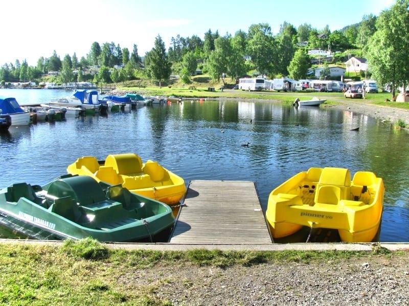 de gule tråbåtene