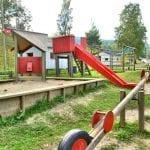 lekeplassen med dumpehuske