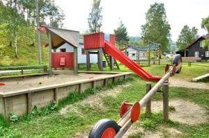 lekeplass på biristrand camping