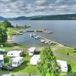båthavn på campingplass