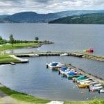 båthavna og brygga på biristrand camping