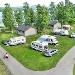 campingturister går tur